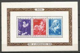 Belgique Belgie COB BL27 Bloc Feuillet MNH / NSC / ** 1949 Jordaens - Blocchi 1924 – 1960