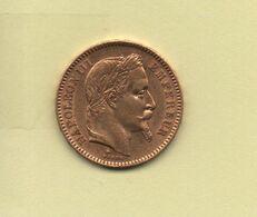 20 Francs Napoléon III Tête Laurée 1865 A - Gold