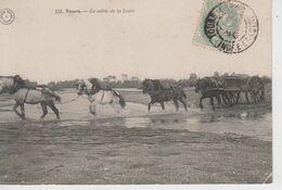 CPA Tours - Le Sable De La Loire (très Belle Scène Avec Attelage) - Tours