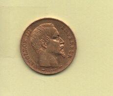 20 Francs Or Napoléon III Tête Nue 1857 A - Gold