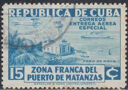 Cuba, Scott #CE1, Used, Matanzas Harbor, Issued 1936 - Luchtpost