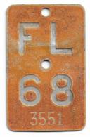 Velonummer Liechtenstein FL 68 - Number Plates