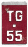 Velonummer Thurgau TG 55 - Placas De Matriculación