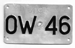 Velonummer Obwalden OW 46 - Placas De Matriculación