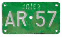 Velonummer Appenzell Ausserrhoden AR 57 - Placas De Matriculación