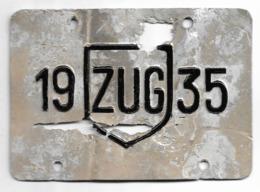 Velonummer Zug ZG 35 (defekt) - Placas De Matriculación