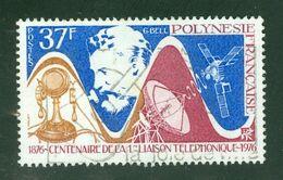 G. Bell + Téléphone; Polynésie Française / French Polynesia; Scott # 291; Usagé (3416) - Polinesia Francese