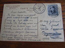 Belgique : N° 169 (15C) SEUL Sur Carte Vue De St Gilles Oblitérée Idem Pour Le RELAIS De RIJMENAM En 1920. - Postmark Collection