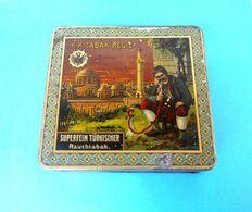 K.K. TABAK REGIE - SUPERFEIN TURKISCHER RAUCHTABAK Austria Vintage Tin Box LARGE SIZE Cigarettes Cigarette Tobacco Tabac - Empty Tobacco Boxes