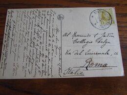 Belgique : N° 205 SEUL Sur Carte Vue De Westerlo (1 Coin Plié) Oblitérée Du RELAIS De TONGERLOO (ANTW.) (ANV.) En 1928 - Sterstempels