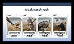 Chad 2020 Mih. 3642/45 Fauna. Birds Of Prey MNH ** - Chad (1960-...)