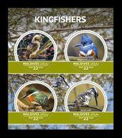 Maldives 2020 Mih. 9081/84 Fauna. Birds. Kingfishers MNH ** - Malediven (1965-...)