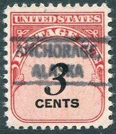 USA Alaska Local Precancel ANCHORAGE Type 1 3c Postage Due (*) Vorausentwertung Timbre Préoblitéré # P01-734 - Precancels