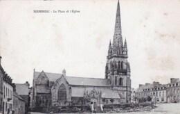 22 - Cotes D Armor -  BOURBRIAC - La Place Et L Eglise - Other Municipalities