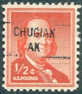 USA Alaska Local Precancel CHUGIAK 1/2c Franklin (*) Vorausentwertung Timbre Préoblitéré # P01-841 - Voorafgestempeld