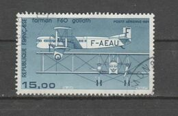 FRANCE / 1984-1987 / Y&T PA N° 57b : Farman F60 (papier Couché) - Choisi - Cachet Rond - 1960-.... Used