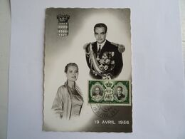 CPA  PRINCIPAUTE DE MONACO MONTE CARLO 19 AVRIL 1956 Avec Cachet Officiel Photo Véritable TBE - Monte-Carlo