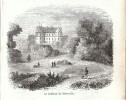 1859 - Gravure Sur Bois - Méreville (Essonne) - Le Château - PRÉVOIR FRAIS DE PORT - Prints & Engravings