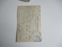 Soldats Francais Et Allies Cantine Militaire Gare P L M  Cachet Franchise Postale Guerre 14.18 - Guerre De 1914-18