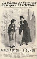 (VEND) Le Bègue Et L' Avocat , Paroles MARIUS AGATON , Musique E DUHEM , Scène Comique , Illustration FUCHA - Partituren