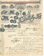 Facture 1905 / 62 BLANGY SUR TERNOISE / F DELABY / Constructeurs Agricoles, Semoirs, Batteuses, Charrues, Pressoir - 1950 - ...