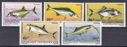 Zentralafrikanische Republik 1971 - Mi.Nr. 234 - 238 - Postfrisch MNH - Tiere Animals Fische Fishes - Fishes