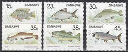 Simbabwe Zimbabwe 1989 - Mi.Nr. 406 - 411 - Postfrisch MNH - Tiere Animals Fische Fishes - Fische