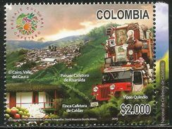 2013 Colombia Culture Truck Transportation Complete Set Of 1 MNH - Colombie