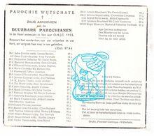 DP † Parochianen Wijtschate 1955/ Corrion Deleu Cappoen Six Misplon Lefebvre Dezeure Gouwy Bruneel Traché Tiersen Thorez - Santini