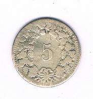 5 RAPPEN 1850 B  ZWITSERLAND /6630/ - Switzerland