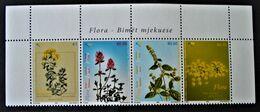 PLANTES MEDICINALES 2008 - BANDE NEUVE ** - YT 16/19 - MI 111/14 - HAUT DE FEUILLE - Kosovo