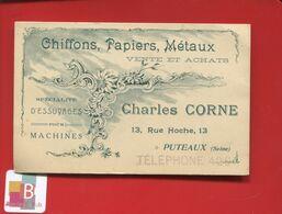 92 PUTEAUX Chiffons Papiers Métaux Ventes Achats Charles Corne Rue Hoche Carte Commerciale Illustrée Circa 1900 - Puteaux
