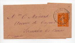 - BANDE-JOURNAUX PERPIGNAN Pour LAMALOU-LES-BAINS 20.1.1922 - 5 C. Orange Type Semeuse Camée - - Bandes Pour Journaux