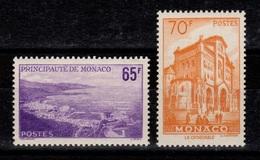 Monaco - YV 487 & 488 N** Cote 28 Euros - Monaco
