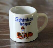 Minie Chope à Bière Publicitaire Schinken Häger Taverne De Munich Schellenberg - Other