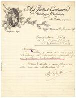 1928 - Commande - Maroc Tanger - Patisserie Confiserie Au Pierrot Gourmand - PREVOIR FRAIS DE PORT - Sonstige