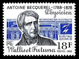 WALLIS ET FUTUNA 1988 - Yv. 383 **    - Antoine Becquerel, Physicien  ..Réf.W&F22711 - Wallis-Et-Futuna