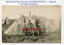 Buro Kgl. Preuß. JAGSTAFFEL 6-Jasta-CP NON SITUEE-CARTE PHOTO Allemande-Guerre 14-18-1 WK-Militaria-Feldpost- - Airmen, Fliers