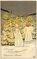 Pauli EBNER * Illustrateur * N°6471 * M. M. VIENNE M. MUNK * Joyeux Noël & Heureuse Année ! * Enfants Bougies - Ebner, Pauli