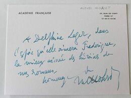 Michel MOHRT - Signé / Dédicace Authentique / Autographe - Schrijvers