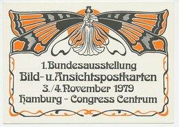 Postal Stationery / Postmark Germany 1979 Butterfly - Art Nouveau - Ohne Zuordnung