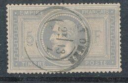 N°33 CACHET A DATE. - 1863-1870 Napoleon III With Laurels