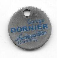 Jeton  De  Caddie  Ville, Automobiles  Garage  DORNIER  Verso  PONTARLIER  Recto  Verso  ( 25 ) - Moneda Carro
