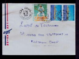 "CÔTE-D'IVOIRE Tennis Tenis Sports HELEN WILLS MOODY 1991 Le Paquebot ""EUROPE"" Bateaux Ships Gc5054 - Tennis"