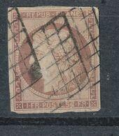 N°7B VERMILLON TERNE 2 GRILLES 1849*VOIR DESCRIPTIF. - 1849-1850 Cérès