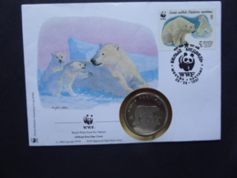 RUSSIA SG XXXX WWF POLO BEAR [URSUS MARITIMUD] COIN COVER 1987 - Ohne Zuordnung