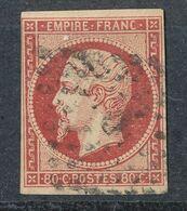 N°17 VERMILLONE SIGNE CALVES - 1853-1860 Napoleon III