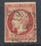 N°17 VERMILLONE SIGNE CALVES - 1853-1860 Napoleone III