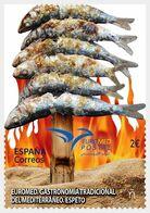 Spain 2020 1 V MNH Euromed 2020 - Traditional Mediterranean Gastronomy Skewered Sardines - Food