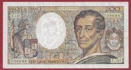 """200 Francs """"Montesquieu"""" 1992 ---TB----ALPH.T.121 - 200 F 1981-1994 ''Montesquieu''"""